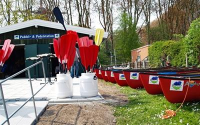 © Johanna Voss, AG EMS - Paddel- und Pedalstation in Emden