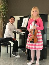 © Kreis Viersen - Phi-Long du Quoc und Miriam Speer von der Kreismusikschule Viersen