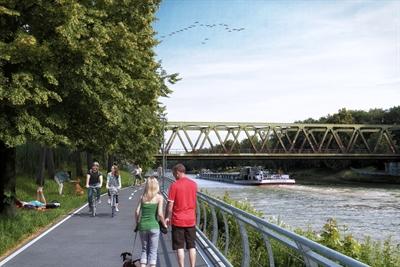 Kanalpromenade Visualisierung