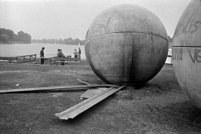 Giant Pool Balls 1977