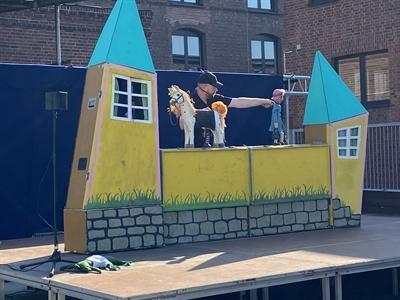 """© Stadt Bocholt - Die ersten Puppenspieltage in 2021 waren ein voller Erfolg. Das Figurentheater Köln zeigte """"Hey! Hier kommt Pippi Langstrumpf."""