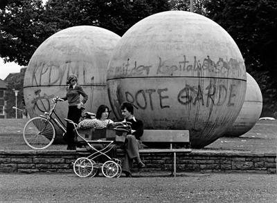 Pool Balls mit ersten Graffiti, Juli 1977