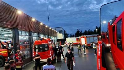 Feuerwehr Münster am Sammelpunkt Drensteinfurt