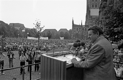Strauß in Münster, 1980