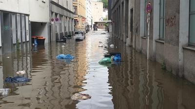 Abfallwirtschaftsbetriebe Münster helfen nach Flutkatastrophe