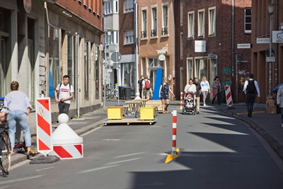 Verkehrsversuch: Hörsterstraße 1