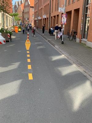 Markierung Hörsterstraße