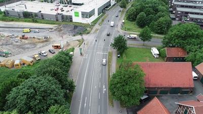 Kreuzungspunkt Weseler Straße / Meyerbeerstraße / neue Heroldstraße