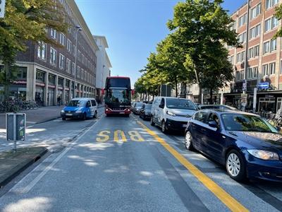 Verkehrsversuch: Busspur