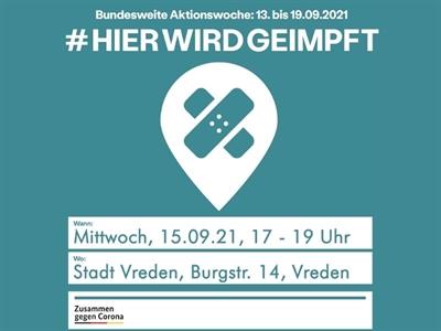 ©  - Auch die Stadt Vreden bietet erneut die Möglichkeit, dass sich jeder im Rahmen der bundesweiten Aktionswoche impfen lassen kann.