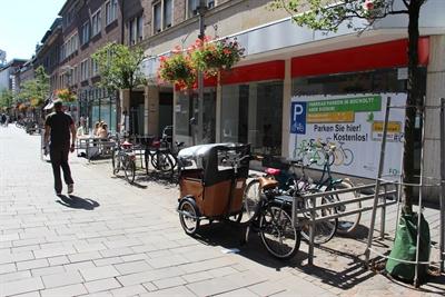 © Stadt Bocholt - Fahrradparken Ladenlokal Nordstraße 39