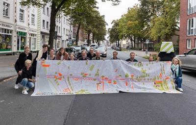 Abschluss Reallabor Wolbecker Straße