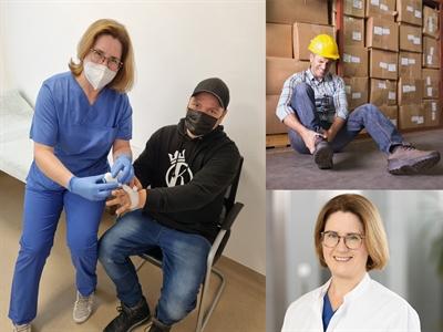 Behandlung von Arbeitsunfällen