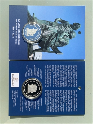 "© Stadt Hanau - Souvenirmünze ""125 Jahre Grimm-Nationaldenkmal"""